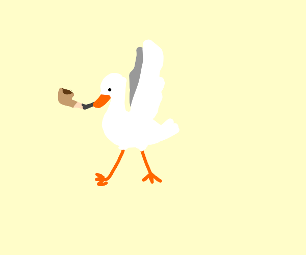 A goose from Untitled Goose Game