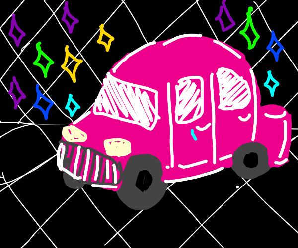 Vaporwave car