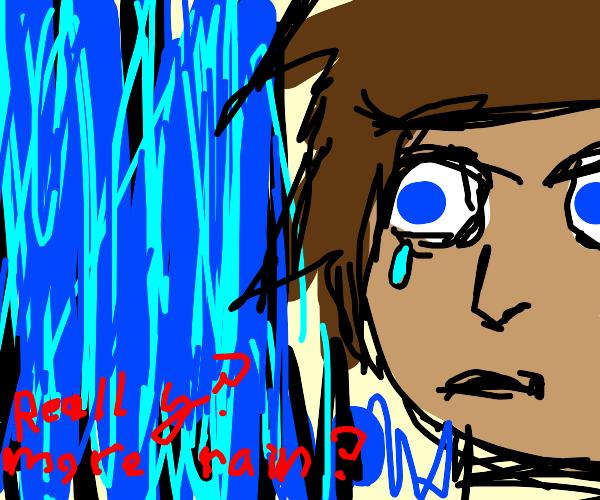 sad anime dude hates rain