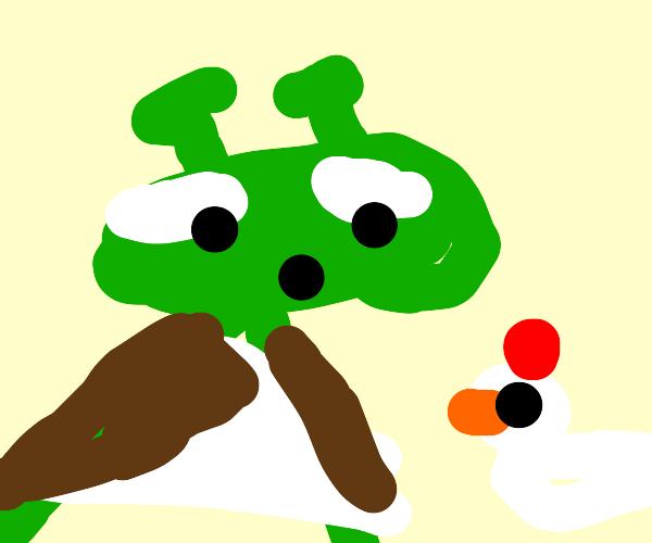 Shrek want da chicken
