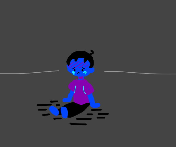 sad blue boy