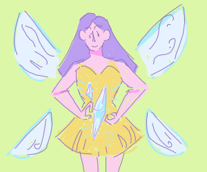 fairy and crystal