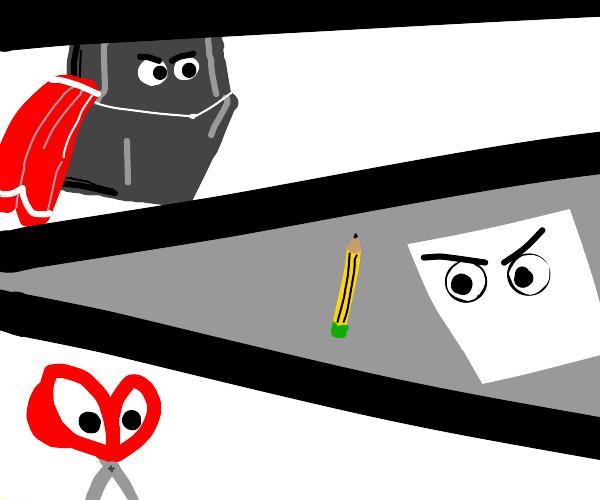 rock paper scissors superhero comic