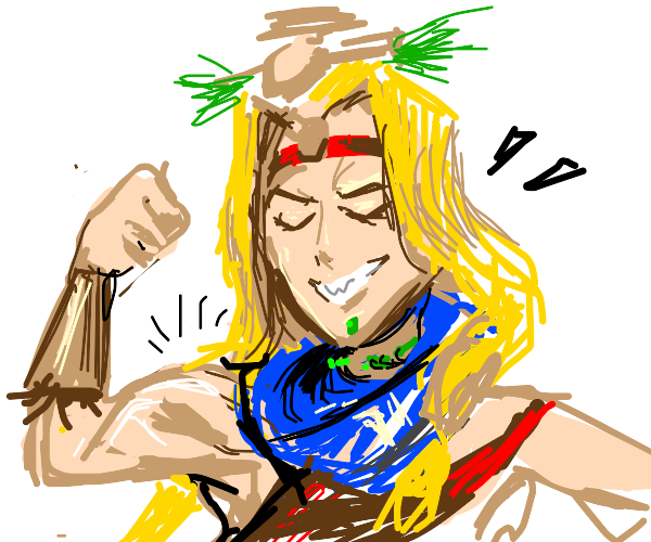 anime girl proud of her mad muscle gainz