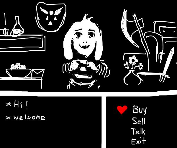 If Asriel owned a shop in Undertale
