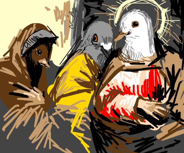 Renaissance art except its all birds.