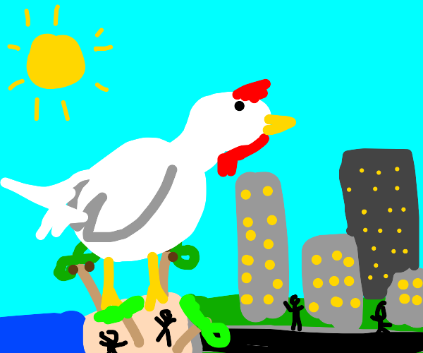 godzilla chicken is taking over california