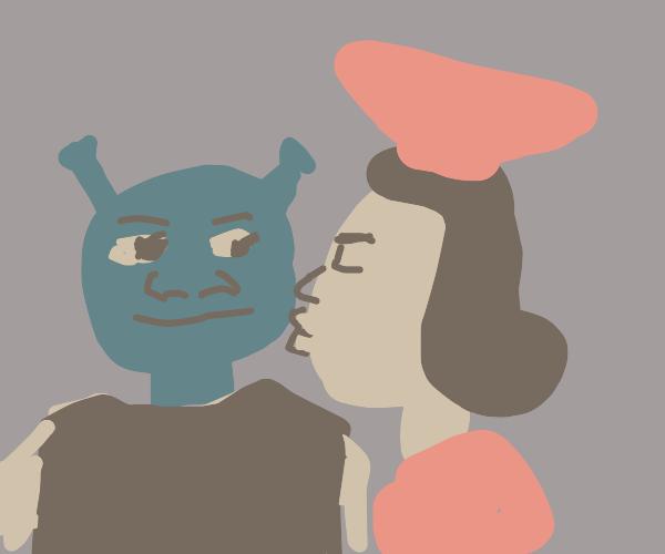 shrek & lord farquaad kiss