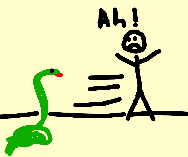 Snakes scare off rick
