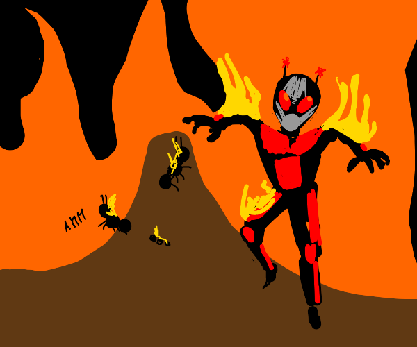 Ant man is on fire