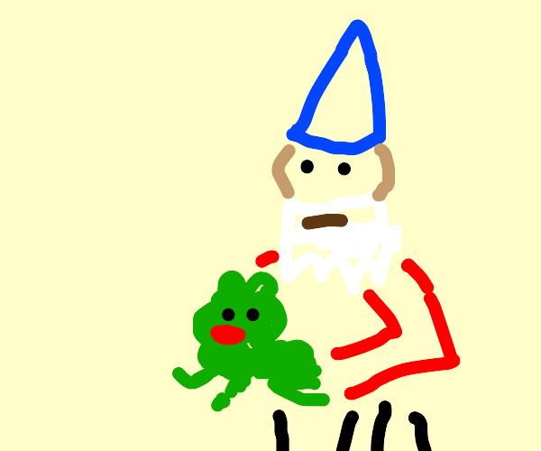 Gnome Catching Frog