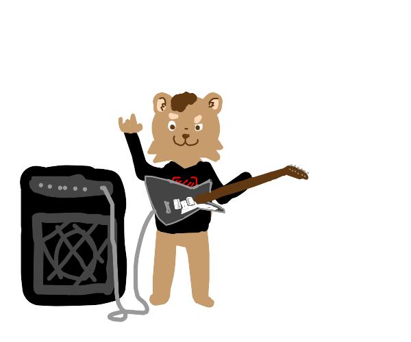 Furry playing guitar