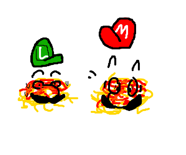 Mario and Luigi have been spaghetti-fied