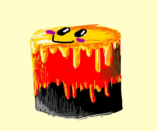 cute lava cake