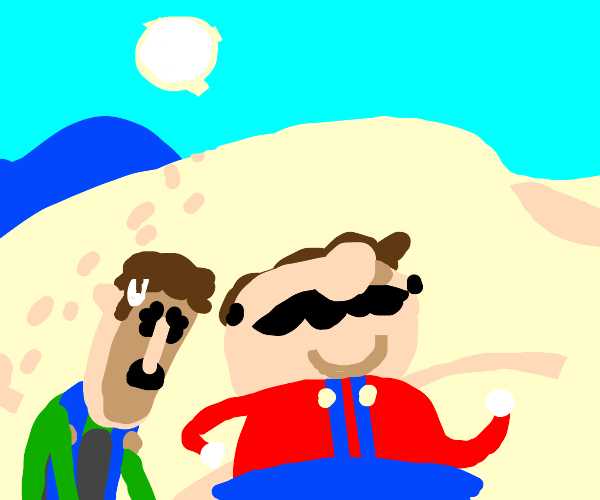 Mario and Luigi are abandoned in the desert