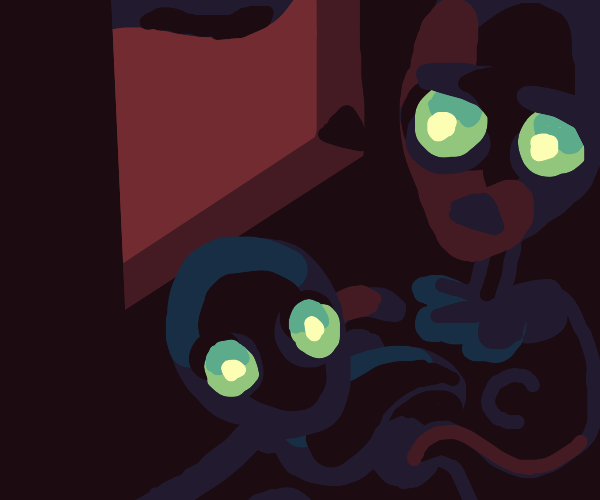 Alien mom and baby