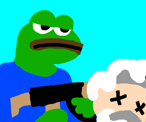 God is getting attacked by pepe
