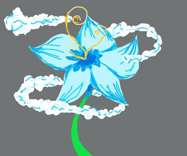 blue tall flower