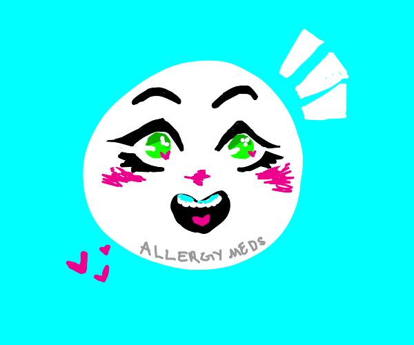 Kawaii allergy pill