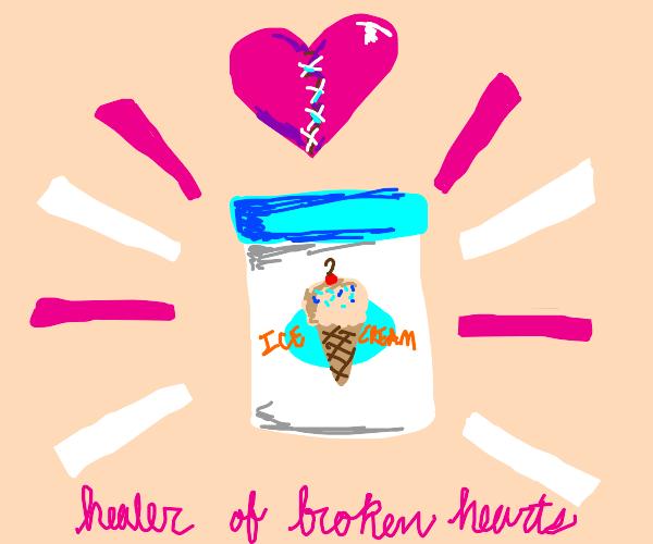 Ice cream, Healer of Broken Hearts