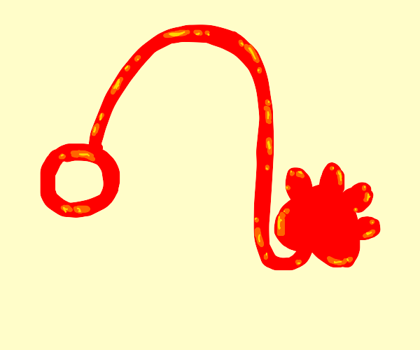 sticky hand toy but it's a paw