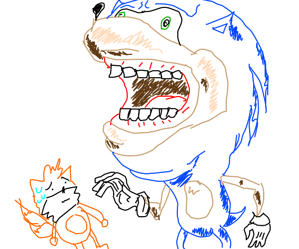 Sonic eating tailes