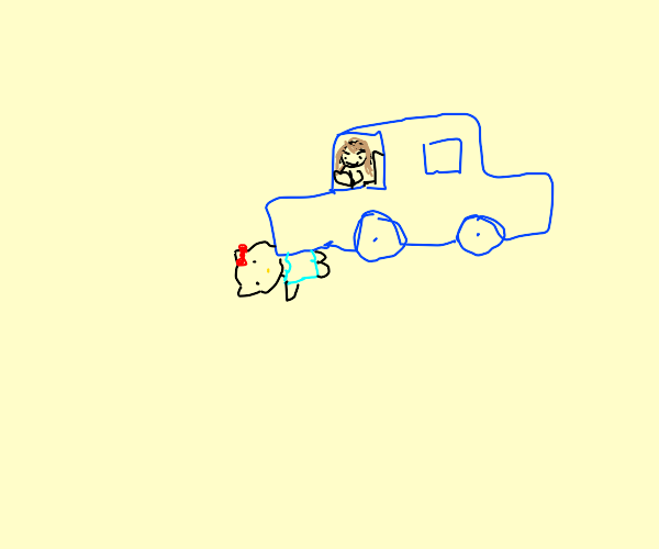 Running down Hello Kitty with my car
