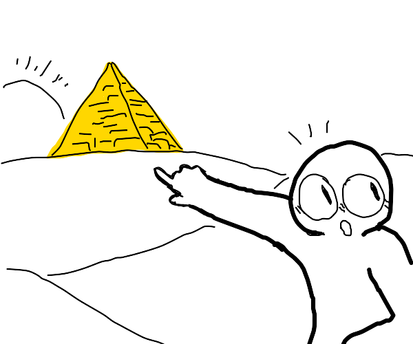 Check out that fancy pyramid