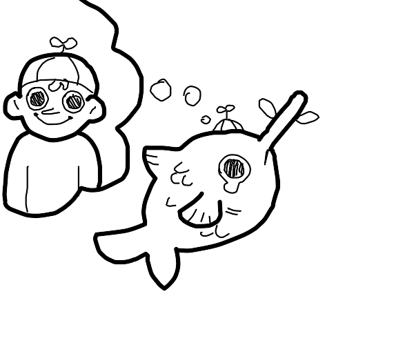 Pinnocchio fish wants to be a real boy