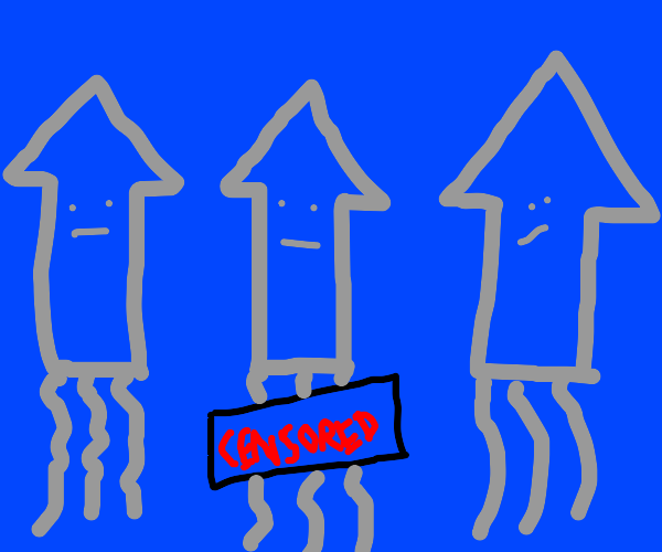 Middle squid is censored