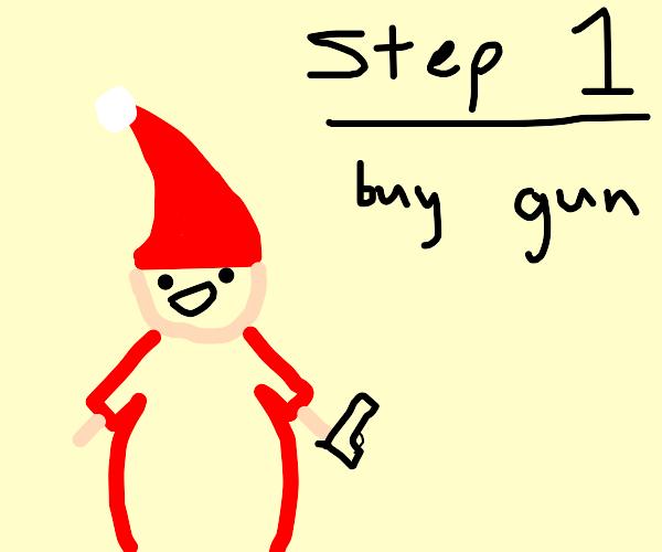 santa teaches how to kill