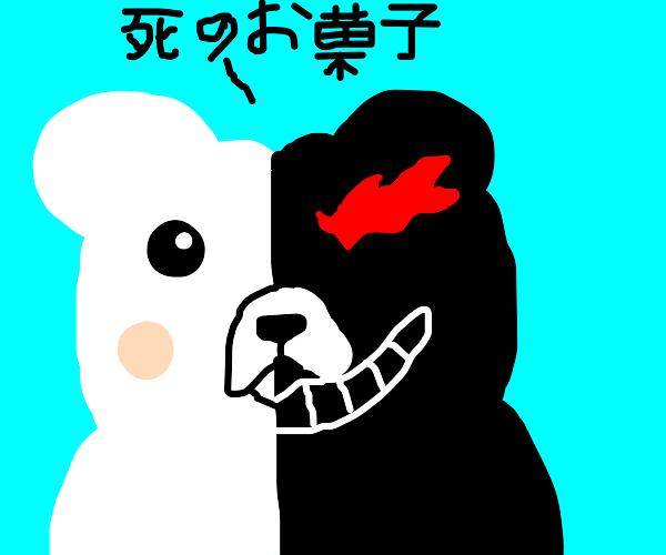 Monokuma whispering sweet Japanese nothings
