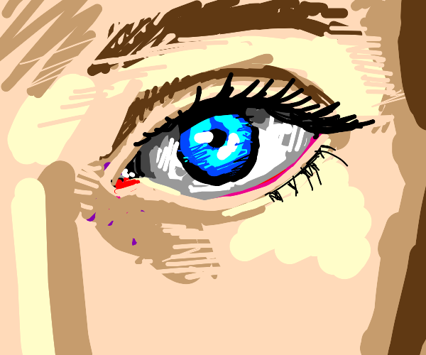 A blue-coloured eye