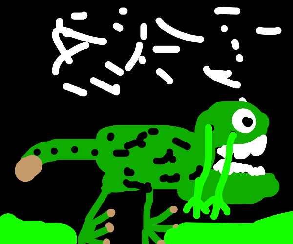 dinosaur with LOTS of snot
