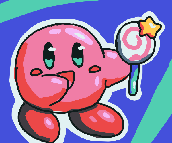Kirby eating Invisibility Candy