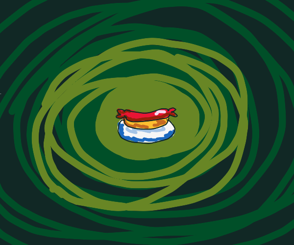 Hotdog on a plate in the void