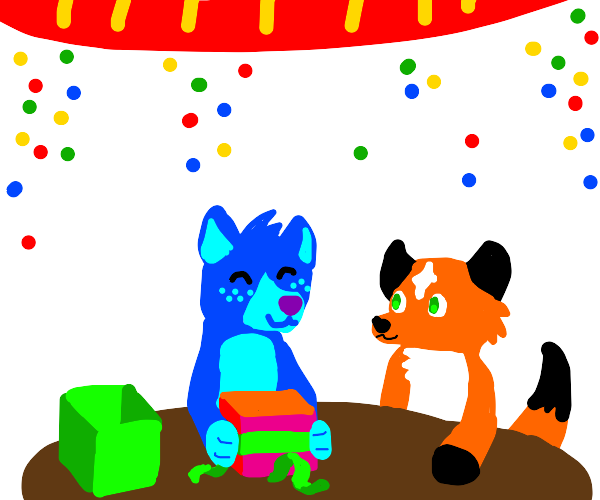 A furry birthday party