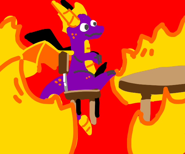 This is fine meme but with Spyro