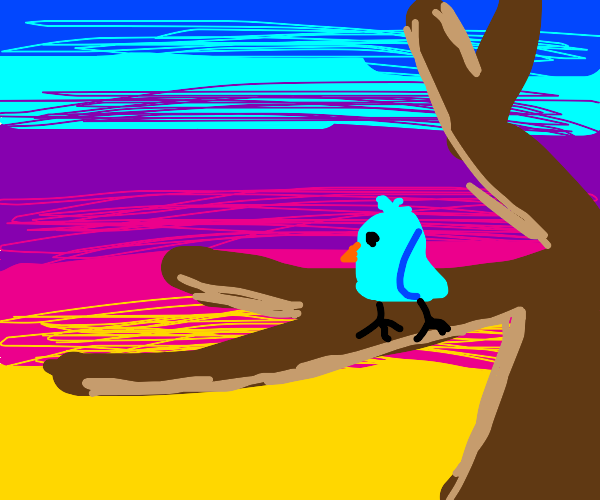 Bird just vibing in a tree