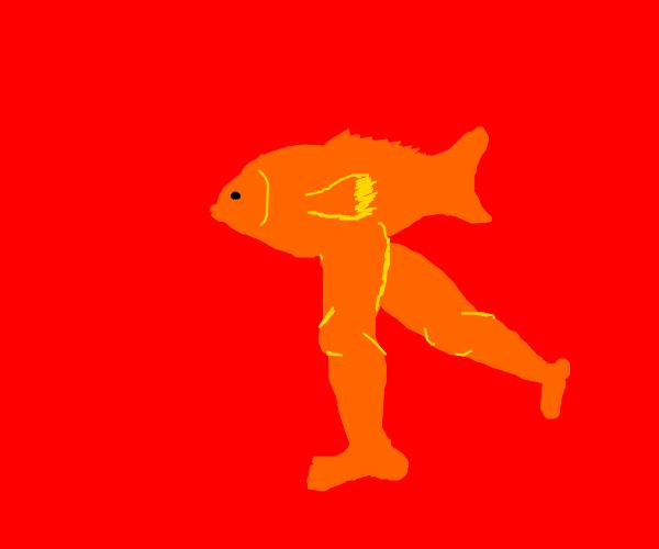 Fish legs walking