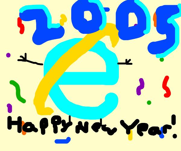 internet explorer thinks it just turned 2005