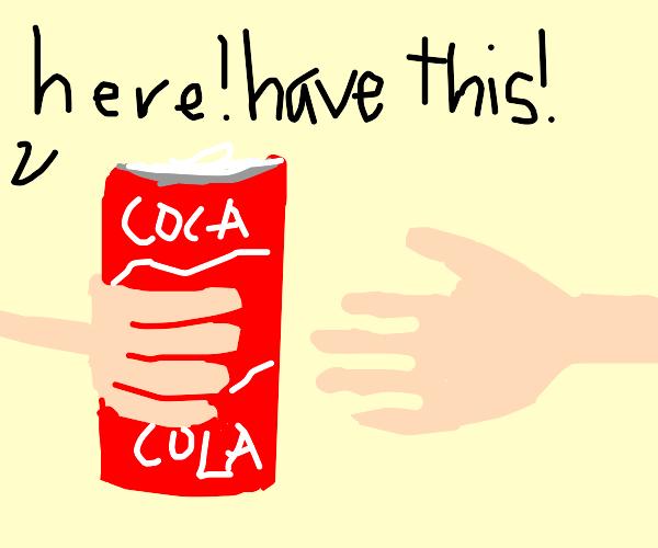 Giving a Coke to a friend