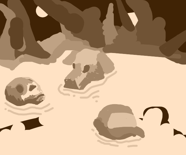 Disintegrating Skeletons, Man and Dog