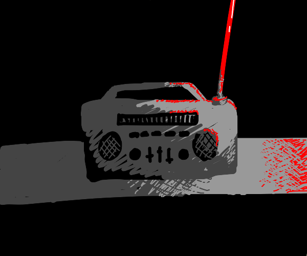 Radio stick is highlighted with red
