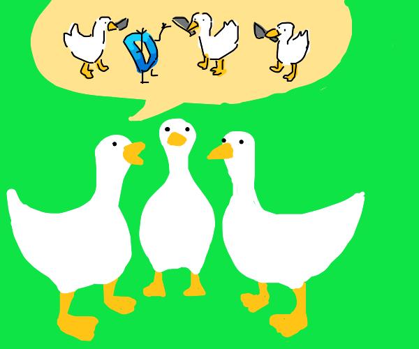 geese plan to kill Drawception D