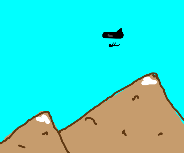 Plane drops guy off at mountain