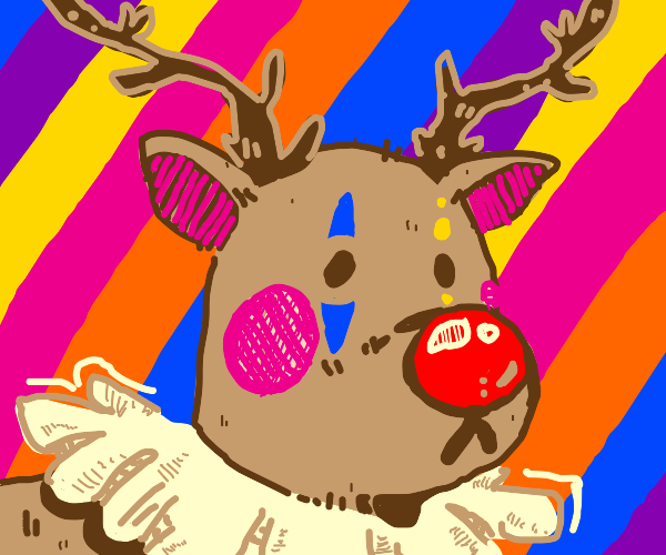 Clown reindeer