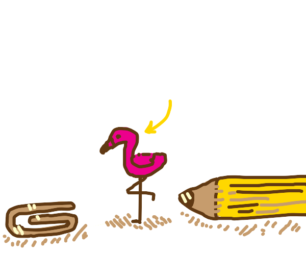 Tiny pink Flamingo