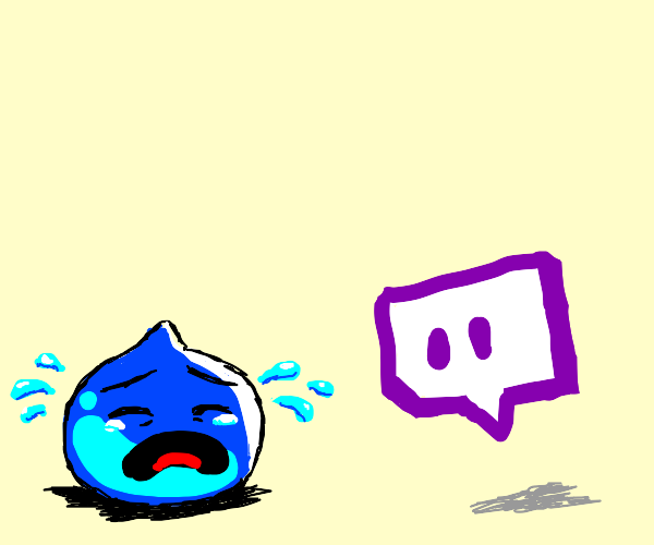 twitch logo watching a crying slime