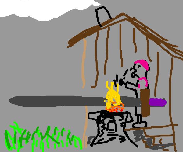 Blacksmith forging the greatest swords